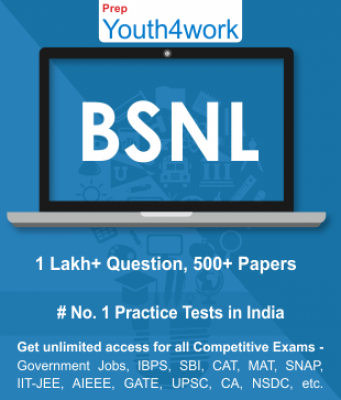BSNL Best Online Practice Tests Prep - Unlimited Access - 500+ Topic Wise Tests For All  Competitive