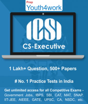 Company Secretary - Executive Best Online Practice Tests Prep - Unlimited Access - 500+ Topic Wise T