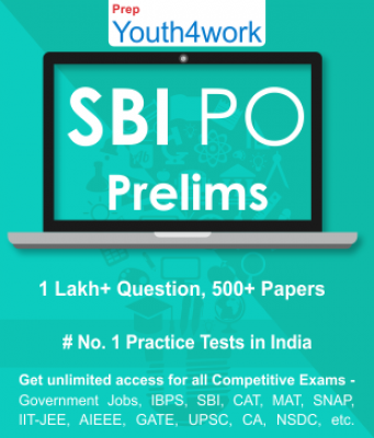 SBI PO Prelims Best Online Practice Tests Prep - Unlimited Access - 500+ Topic Wise Tests For All  C