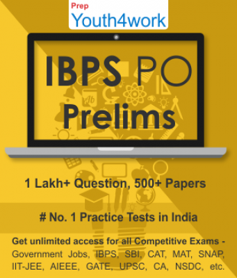 IBPS PO Prelims Best Online Practice Tests Prep - Unlimited Access - 500+ Topic Wise Tests For All