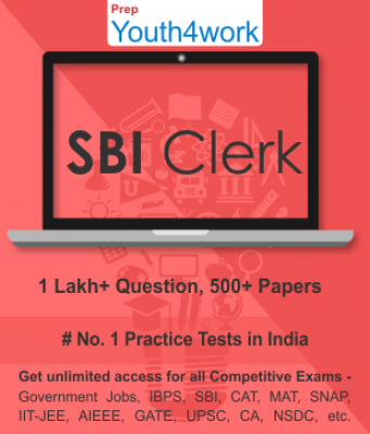 SBI Clerk Best Online Practice Tests Prep - Unlimited Access - 500+ Topic Wise Tests For All  Compet
