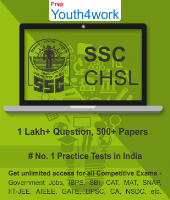 SSC CHSL Best Online Practice Tests Prep-Unlimited Access-500+ Topic Wise Tests For All  Competi