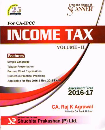 Income Tax Volume-ii A.y. 2016-17 For CA-IPCC
