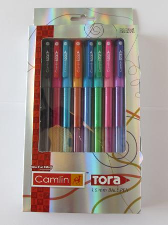 Tora Ball Pen Assorted Pack Of 8-1.0 Mm
