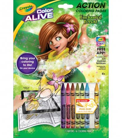 crayola color alive action coloring pages enchanted forest - Crayola Color Online